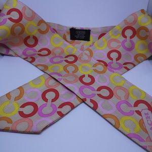 Coach signature ponytail scarf